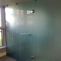 Etched Shower Enclosure