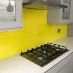 Yellow Painted Splashback - Osborn Glass
