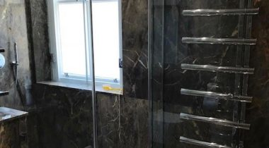 Glass Shower Screen Enclosure.