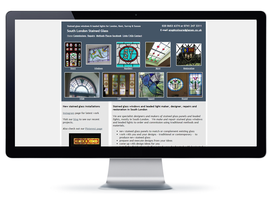 Stained Glass Website